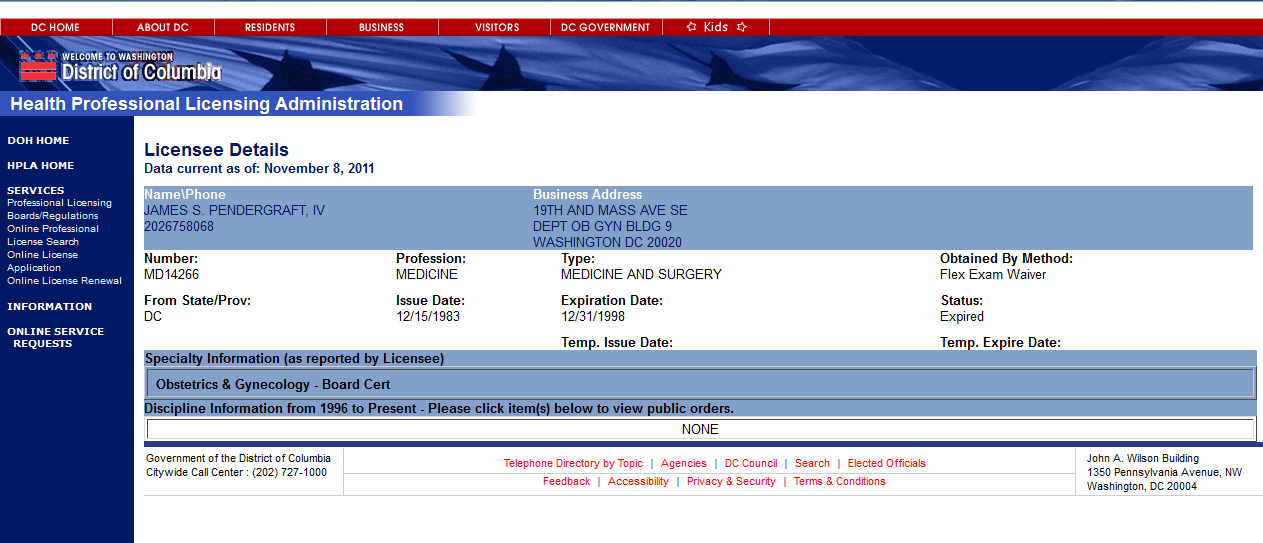 Expired DC license