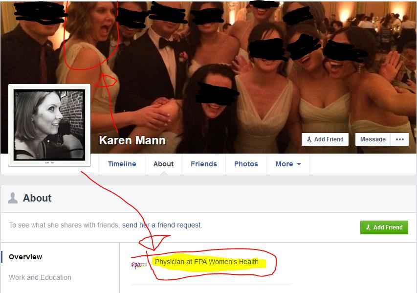 Mann, Karen E. facebook page