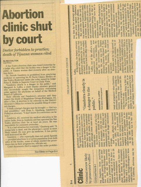 Abortion clinic shut by court, Doctor forbidden to practice