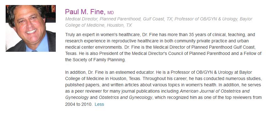Fine, Paul M. - photo bio