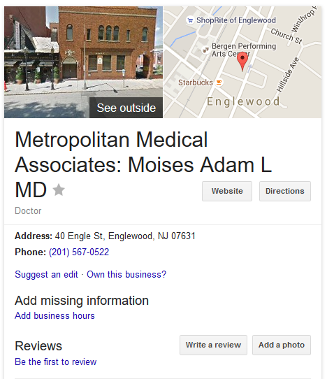 Moises, Adam - Metropolitan Medical Associates abortion clinic