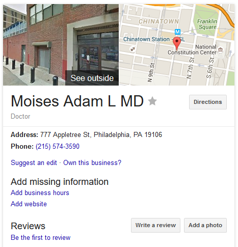 Moises, Adam - Philadelphia Women's Center abortion clinic