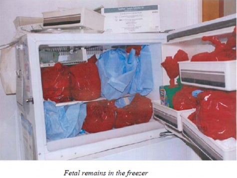 Women's Medical Society - fetal remains in freezer