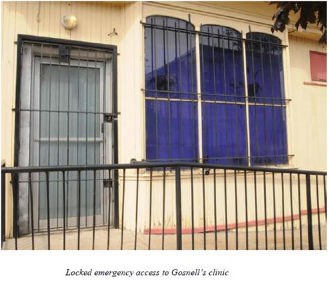 Women's Medical Society - locked emergency access door