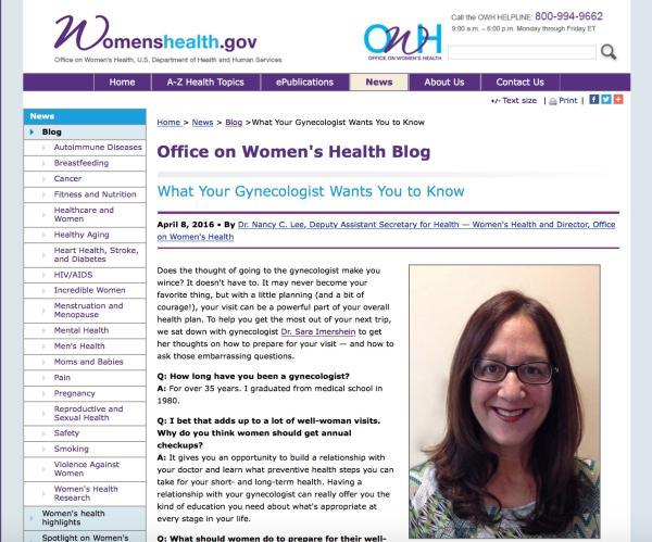 HHSOffWomensHealthBlogApril8 Sara Imershein