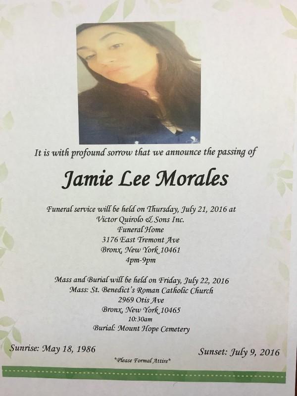 Rho, Robert - Jamie Lee Morales funeral flyer big pic
