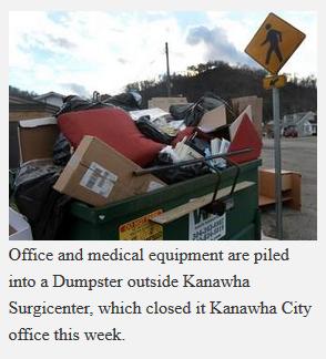 Kanawha Surgicenter - dumpster