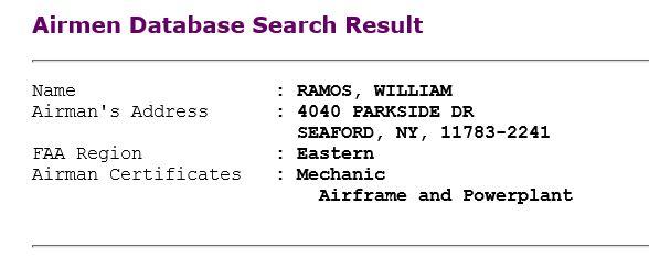 Ramos pilot info