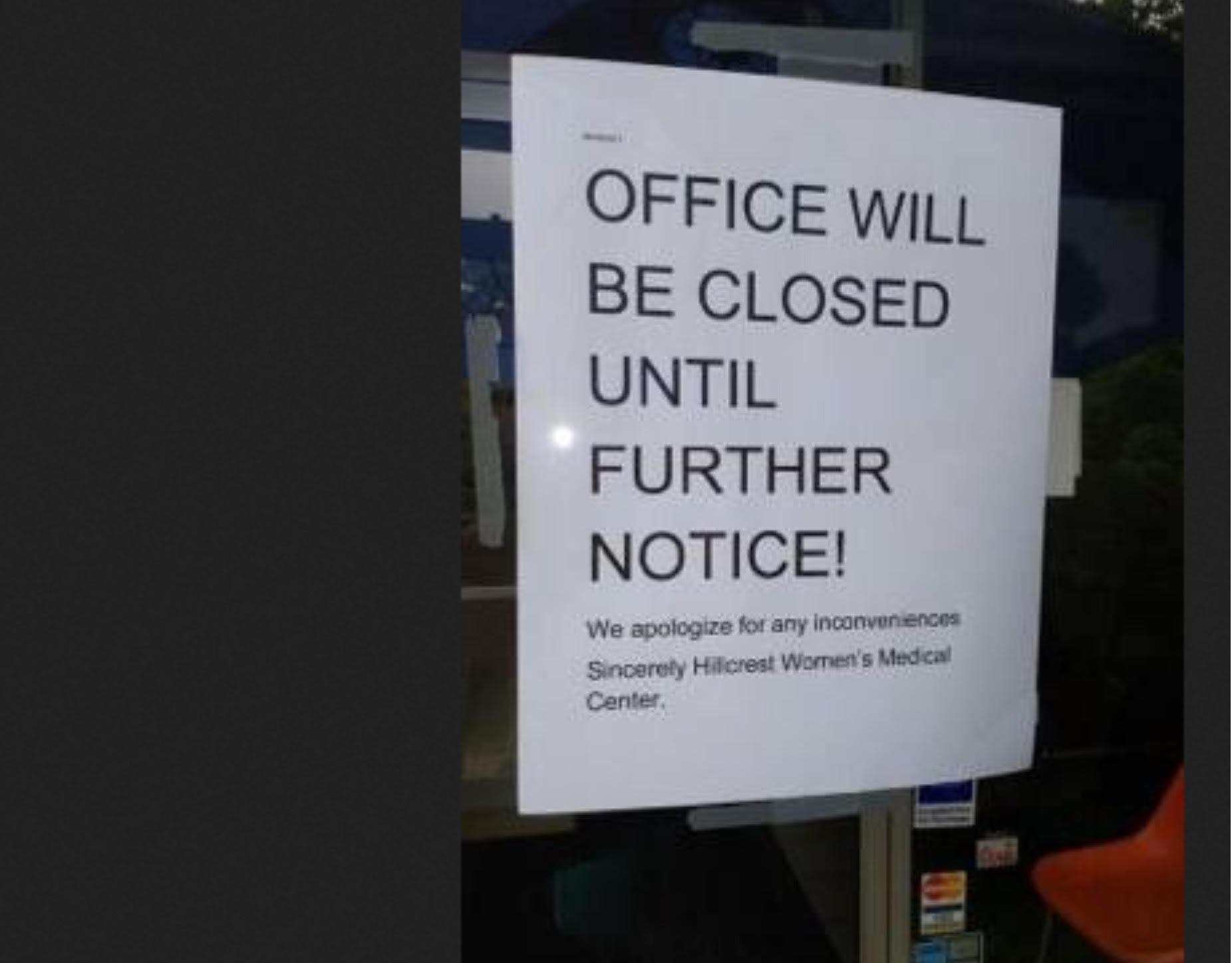 Harrisburg, PA - Hillcrest Women's Medical Center closure