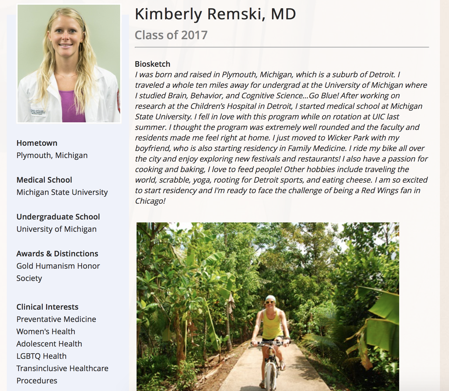 Kimberly Remski, MD -- Class of 2017 - Biosketch