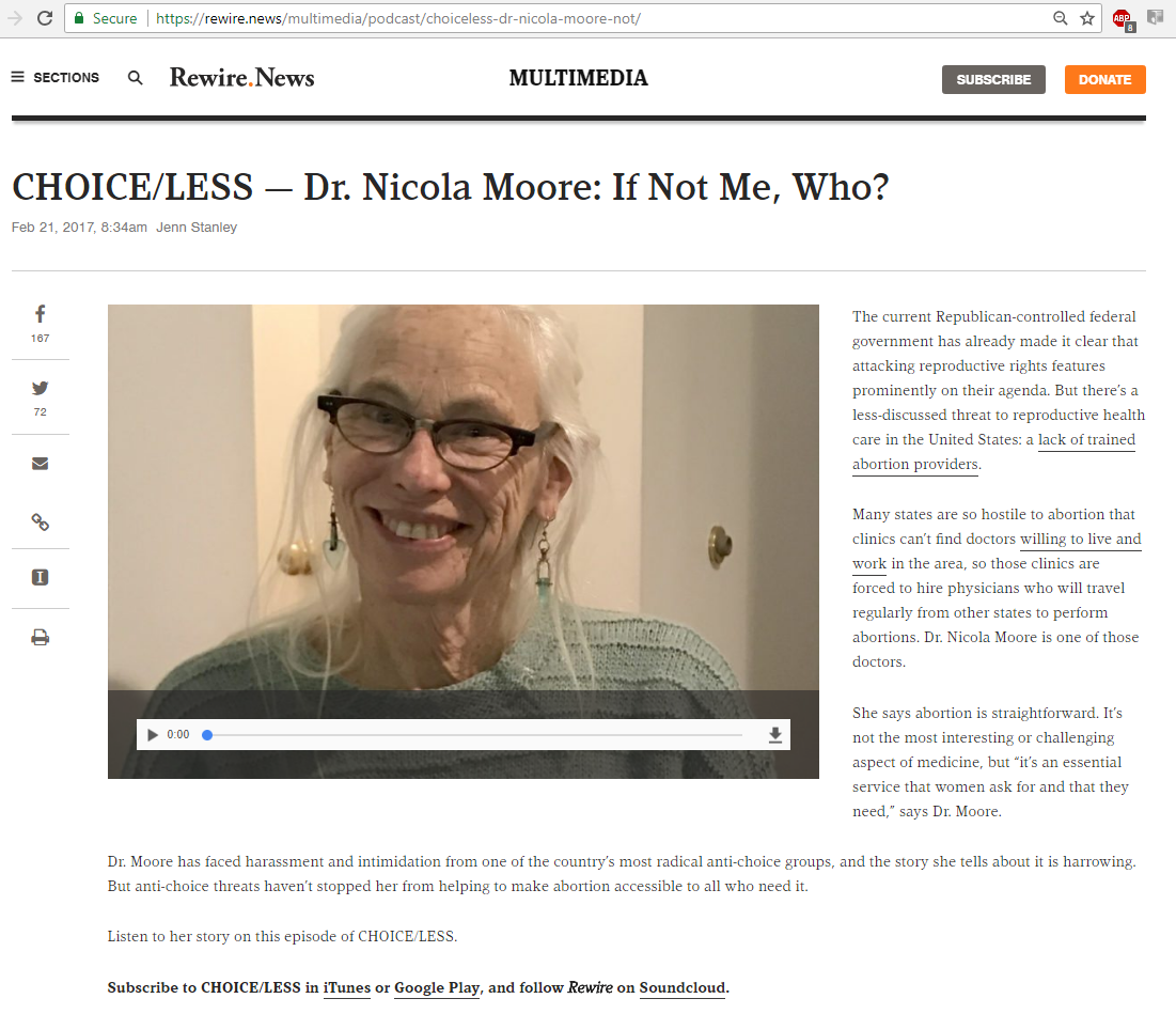Rewire.news - Feb 21, 2017 -- Dr. Nicola Moore - If not me, who?