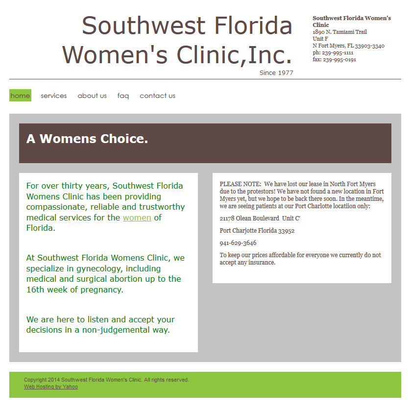 Southwest Florida Women's Clinic (North Fort Myers, FL) -- Azima Clinic CLosed pic 1