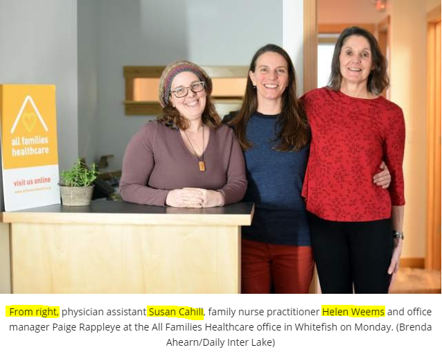 All Families Healthcare - Staff pic with names