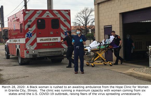 Ambulance at Hope Clinic 3-28-2020