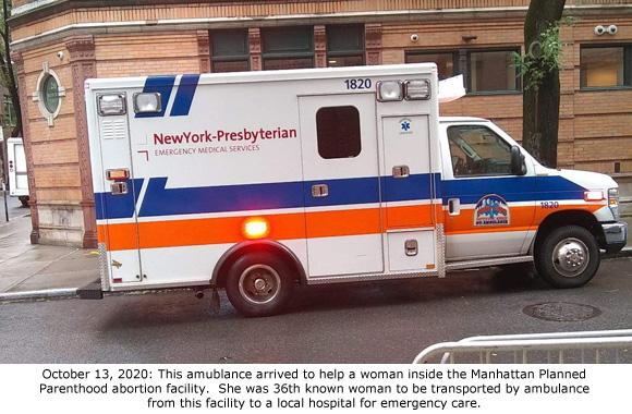 Ambulance at Manhattan PP 10-13-2020