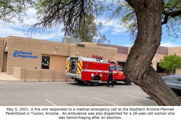 Fire Unit at Tucson Planned Parenthood 5-5-2021
